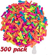 Wensty 500 Pack Water Balloons with Refill Kits, Latex Water Bomb Balloons Fight Games - Summer Splash Fun for