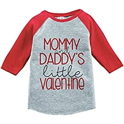 Custom Party Shop Girl's Little Valentine Happy Valentine's Day 4T Red Raglan