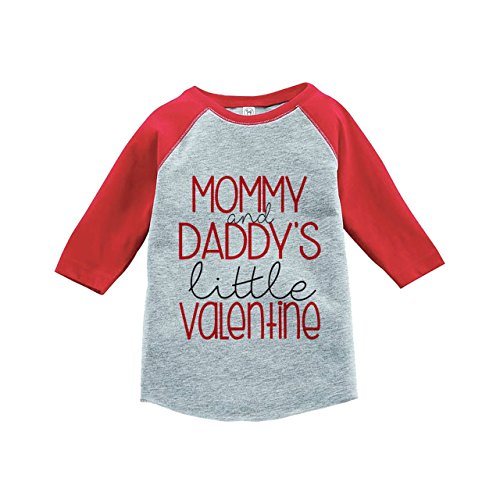 Custom Party Shop Girl's Little Valentine Happy Valentine's Day Small Red Raglan