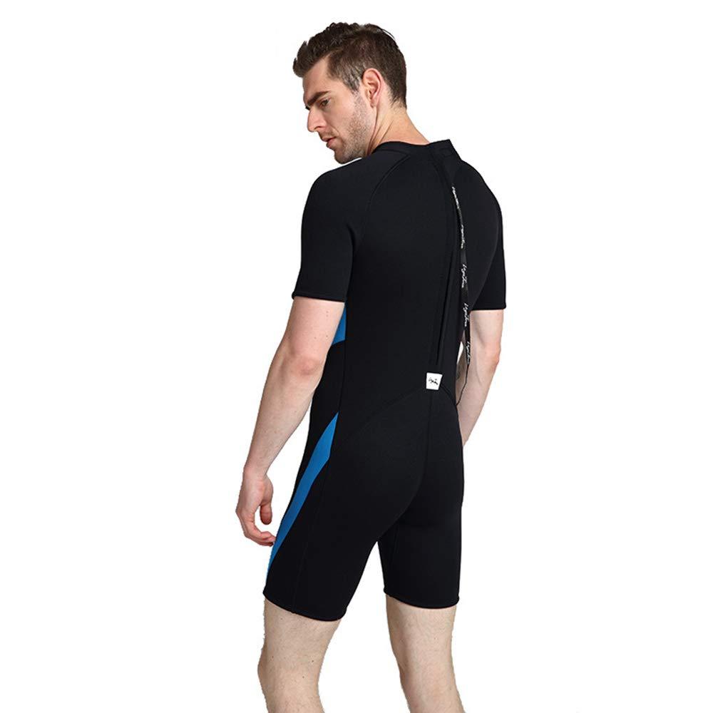 ZUKN Mens Wetsuits 3MM Neoprene One Piece Full Body Diving Suit Short Sleeve Sunblock Swimwear for Scuba Swimming Surfing Snorkeling Equipment