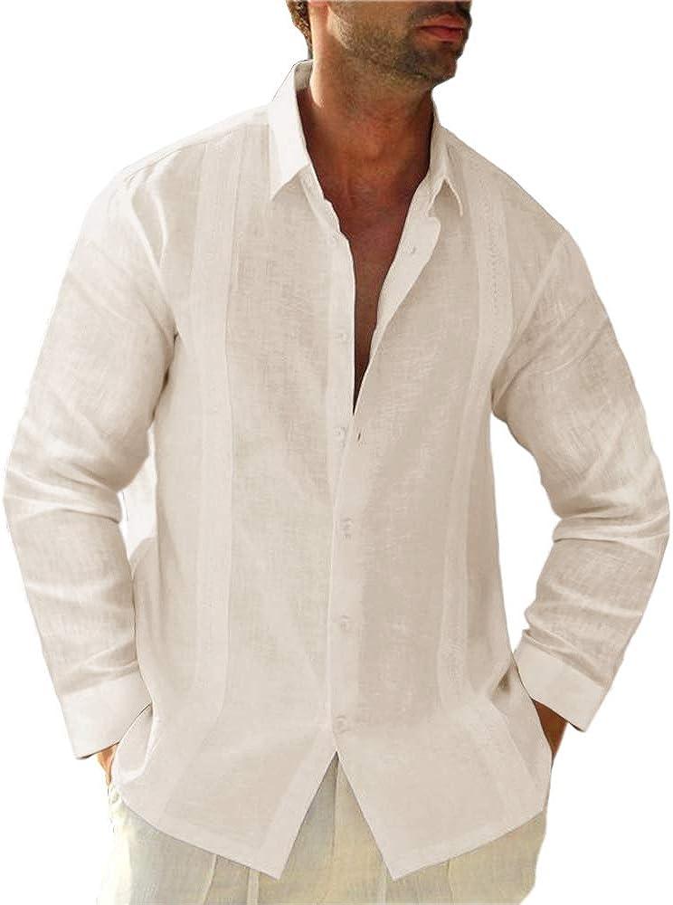 Hestenve - Camisa de manga corta para hombre, diseño de campamento cubano