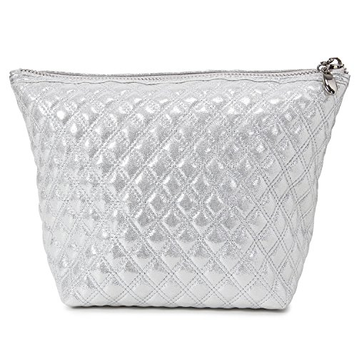 Lifewit Cosmetic Bag Makeup Bag, Beauty Bag for Purse, Beauty Skincare Travel Makeup Pouch Kit for Travel Accessory, Glitter Silver from Lifewit