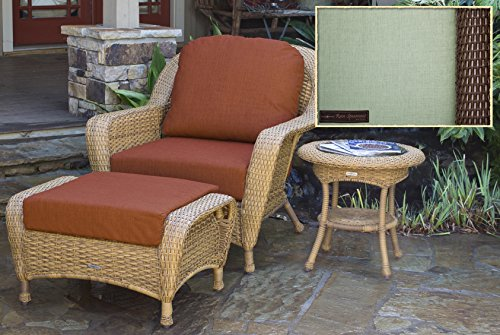 Tortuga Outdoor Bundle - Lexington Club Chair, Ottoman & Side Table, Java, Rave Spearmint price