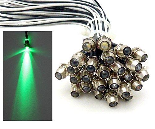 15x LED Lichtpunkt Sternenhimmel Aluminium IP68 Wasserdicht Verbrauch 0, 2 Watt pro Lichtpunkt dimmbar Einbau Spot Schraube Licht Punkt Deckenleuchte Deko Lichtfarbe : Grün [Energieklasse A] Kamilux