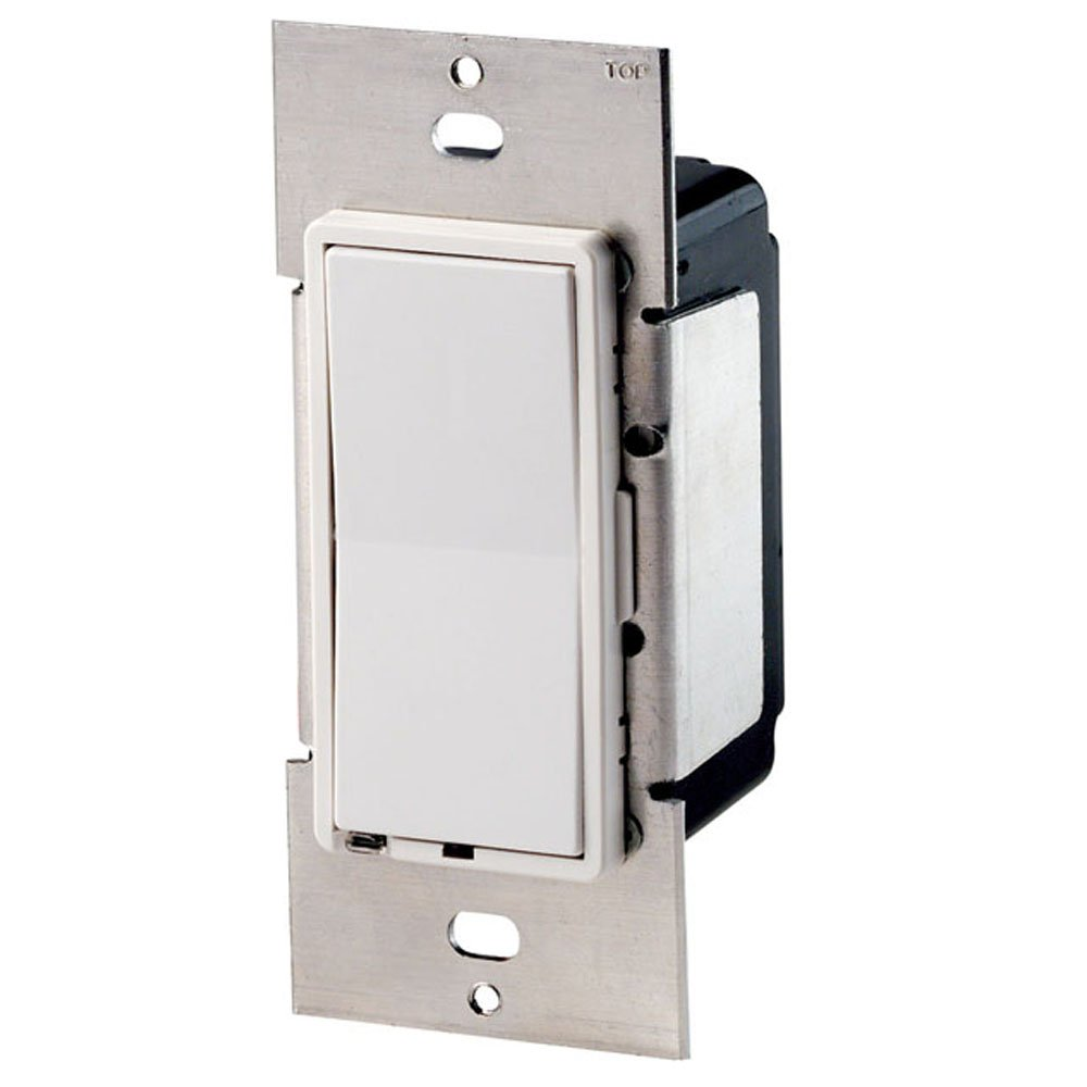 Leviton CN220-C Centura Switching Controller, Mounts In A Standard Single Gang Box, Includes White/Ivory Screwless Wallplate
