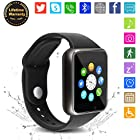 Bluetooth Smart Watch - WJPILIS Touch Screen Smart Wrist Watch Smartwatch Phone SIM Card Slot Camera Pedometer Sport Tracker Compatible iOS iPhone Android Samsung LG Men Women Kids (Black)