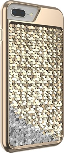 Body Glove Shimmer Reversible Sequins Phone Case for iPhone 6 Plus, 6s Plus, 7 Plus, 8 Plus - Gold/Silver