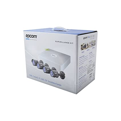 Epcom powered by Hikvision All in One CCTV Kit, Includes 720p DVR (Cloud EZVIZ