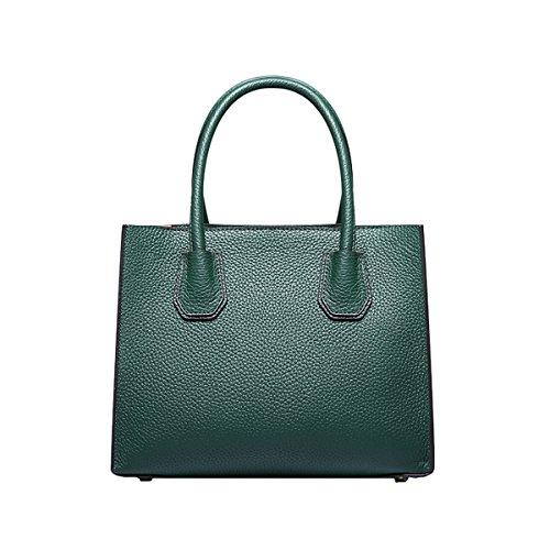 DISSA EQ0871A Damen Leder Handtaschen Satchel Tote Taschen Schultertaschen Grün ZGVoQc9