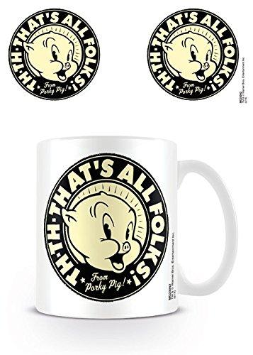 Looney Tunes - Ceramic Coffee Mug / Cup (That's All Folks - Porky Pig)