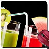 organ juice - Liili Suqare Mousepad 8x8 Inch Mouse Pads/Mat IMAGE ID: 39321772 Two glasses of organic juice