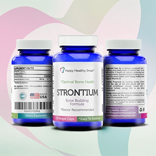 Amazon.com: #1 Strontium Bone Healthy Supplement Recommended By Doctors Worldwide 90, Easy To Swallow Veggie Caps Made In The USA: Health & Personal Care