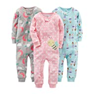 [Sponsored]Baby and Toddler Girls' 3-Pack Snug Fit Footless Cotton Pajamas