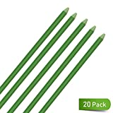 UniEco Garden Stakes 3ft Fiberglass Plant Stakes Pack of 20 for Tomato Flower