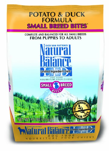 Natural Balance Limited Ingredient Diets Small Breed Bites Dry Dog Food, Grain Free, Potato and Duck Formula, 4.5-Pound Review