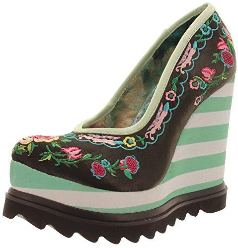 Irregular Black chaussures Noir Green compensées femme Choice ppqFwr1