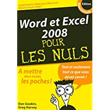 Word et Excel 2008 Macpour les Nuls