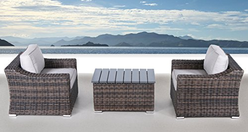 Century Modern Outdoor Marina Collection Patio Furniture Sofa Garden,  Sectional Furniture Set Resort Grade Furniture