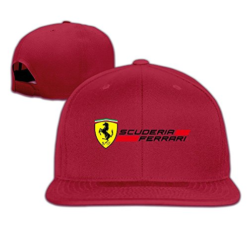 hmkolo-scuderir-ferrari-cotton-flat-bill-baseball-cap-snapback-hat-unisex-red
