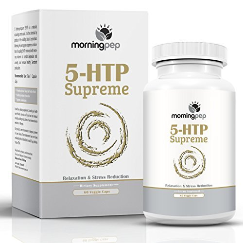 5-HTP SUPREME 60 Vegetarian Caps, Is A Custom Formulated Natural Relaxation Sleep Aid Support Supplement, Promoting Healthy Sleep Mood Relaxation And Aids Insomnia Anxiety Stress & Panic Attacks