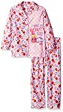 Intimo Little Girls' Shopkins Coat Front Pajama, Pink, 6/6X