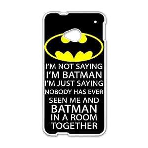 Batman logo i'm batman Phone Case for HTC One M7 Kimberly Kurzendoerfer