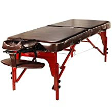 Master Massage Monroe Portable Massage Table Pro Package, 30 Inch (Chocolate Luster)