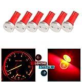mitsubishi 3000gt speedometer - CCIYU 6X High Power T5 73 74 Wedge Instrument Cluster Speedometer LED Light Bulbs Red
