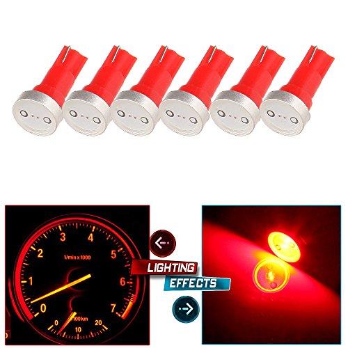 cciyu 6X T5 73 74 Wedge High Power LED Light Bulbs Replacement fit for Instrument Gauge Cluster Speedometer Light (Speedometer Ram Dodge)