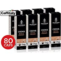 Grinders Coffee Caffitaly Compatible Capsules, 80 Crema Capsules