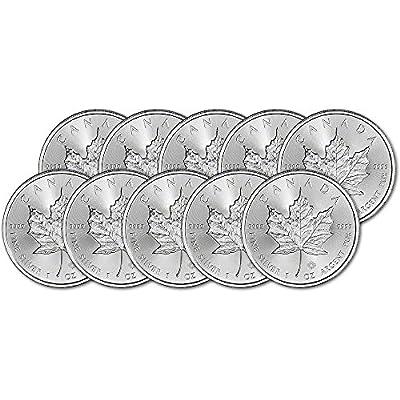 CA 2018 Canada Silver Maple Leaf (1 oz) TEN (10) Brilliant Uncirculated