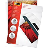 Fellowes  Hot Laminating Pouches, Photo Size, 5 mil, 25 Pack (52010)