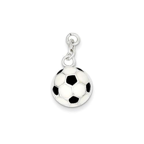 Colgante de pelota de fútbol esmaltada en color negro y blanco, 20 ...