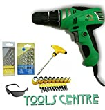 TOOLSCENTRE Tools Centre Powerful Electric Screwdriver Cum Drill Machine With Screwdriver Bits & Sockets With Free Drill Set & Safety Goggles Combo Offer.