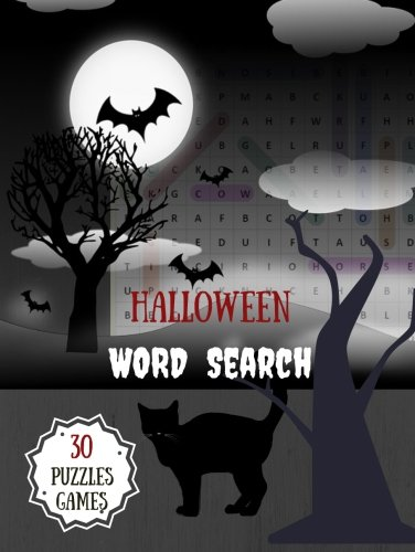 Halloween Word Search 30 Puzzles Games: Activity Book