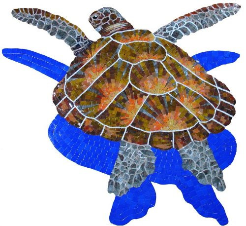 Glass Loggerhead Turtle Large by Artistry in Mosaics