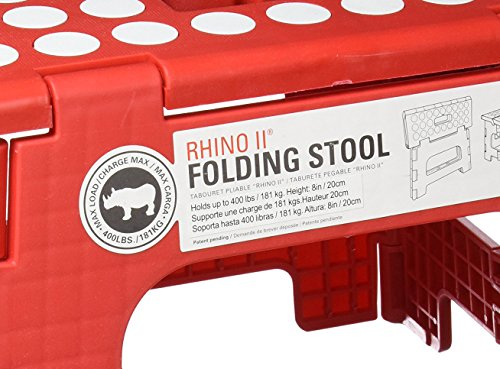 Kikkerland Rhino Ii Step Stool Red