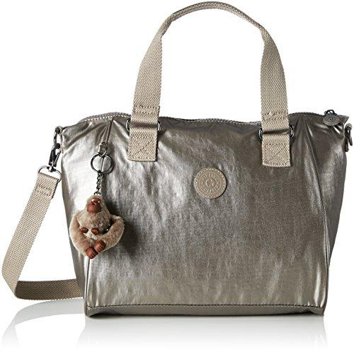Kipling Amiel, Borse a secchiello Donna Oro (Metallic Pewter)