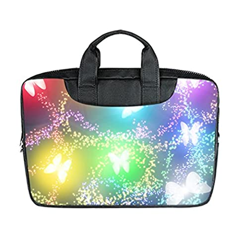 JIUDUIDODO Perfect Beautiful and Colorful Butterfly Pattern Neoprene Water Resistant Macbook Air 11