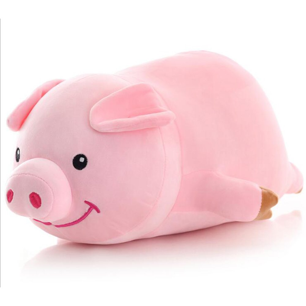 Dongcrystal 19.6'' Pink Sleeping Pig,Soft Plush Piggy Toy - Stuffed Animals Pillow