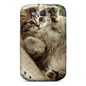 New Cat Napper Tpu Case Cover, Anti-scratch AniamlCaseZone Phone Case For Galaxy S3
