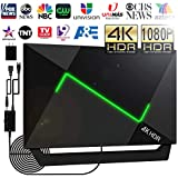 [Upgraded 2020] 138+Miles HD TV Antenna Amplified- 4K HDR HDTV Antenna Indoor/Outdoor Antenna with Amplifier Booster Free Digital TV Channels for VHF/UHF/1080P/4K/FM Signals Fire TV Stick 16ft
