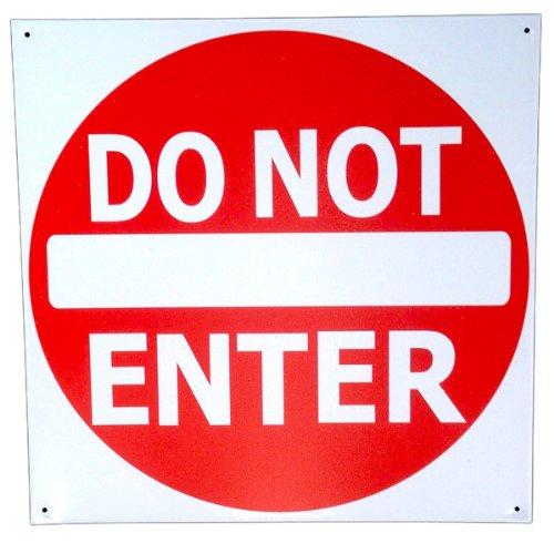 Do Not Enter Sign Tin Metal 12 X 12 Street Road Sign Traffic Signal (Sign Street Truck)