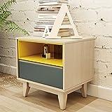 Nordic bedside lockers,Simple modern mini small apartment multi-Purpose bedroom bedside cabinet-A