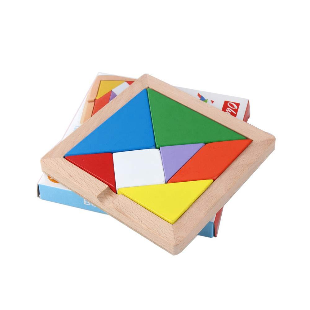【爆売り!】 7ピース 子供用 教育玩具 教育ギフト カラフルな木製脳トレーニング 子供用 幾何学知能タングラム B07PWRTFLV パズル ジグソーパズル 教育ギフト B07PWRTFLV, インテリアエクスプレス:b24faeb8 --- a0267596.xsph.ru
