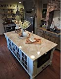"""Counter Top White Marble Riviera Creme Look. 36"""" W x 144"""" L by EzFaux Décor"""