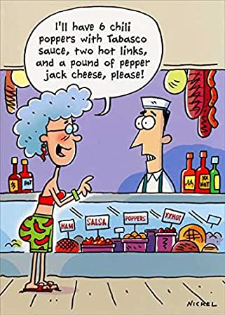 Spicy Hot Order Oatmeal Studios Funny Birthday Card