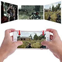 PUBG STG FPS TPS Mobile Joystick L1R1 Trigger Fire Button Game Controllers - L1 R1 Gamepad Shooter Keys Kit for All Touch Screen Mobile Phones (White)