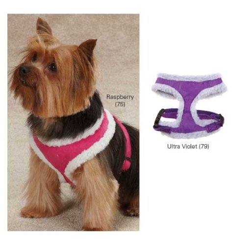 East Side Collection Polyester Cozy Sherpa Dog Harness, X-Small, Raspberry