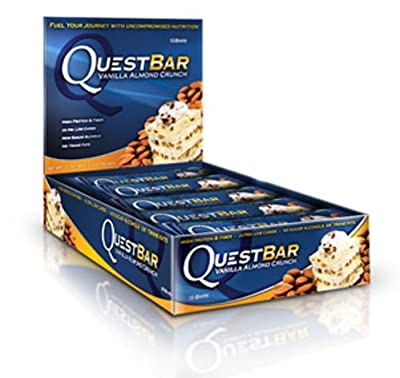 Quest Nutrition QuestBar Protein Bar Vanilla Almond Crunch -- 12 Bars from Quest Nutrition
